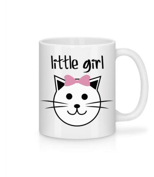 Little Girl - Cat - Mug - White - Front