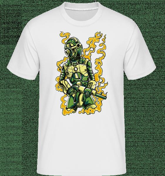 Robot Soldier -  Shirtinator Men's T-Shirt - White - Vorn