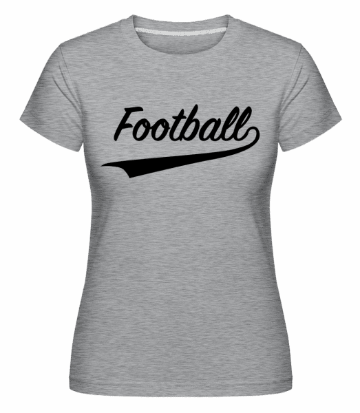 Football Stroke -  Shirtinator Women's T-Shirt - Heather grey - Vorn