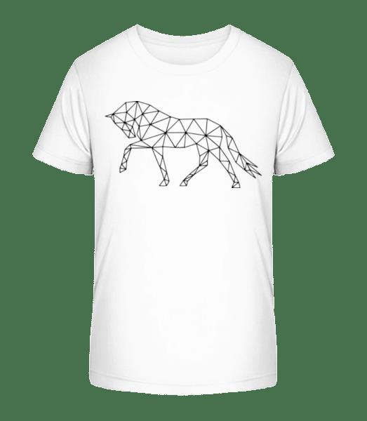 Polygon Horse - Kid's Premium Bio T-Shirt - White - Vorn
