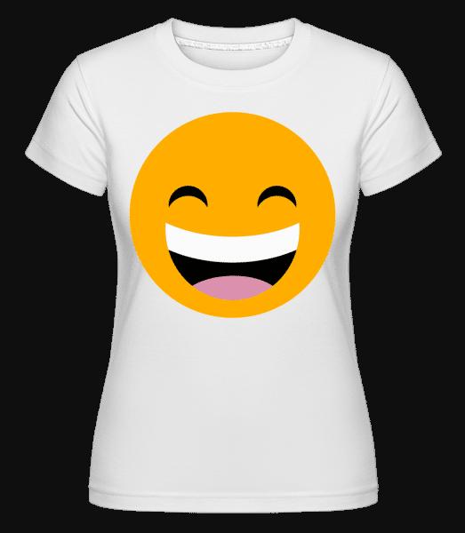 Laughing Smiley -  Shirtinator Women's T-Shirt - White - Vorn