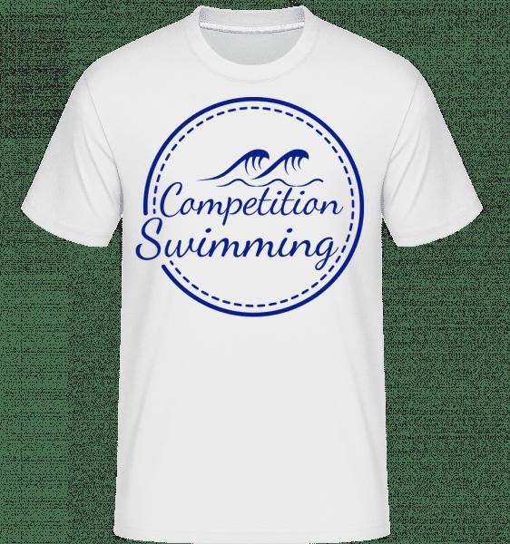Competition Swimming - Shirtinator Männer T-Shirt - Weiß - Vorn
