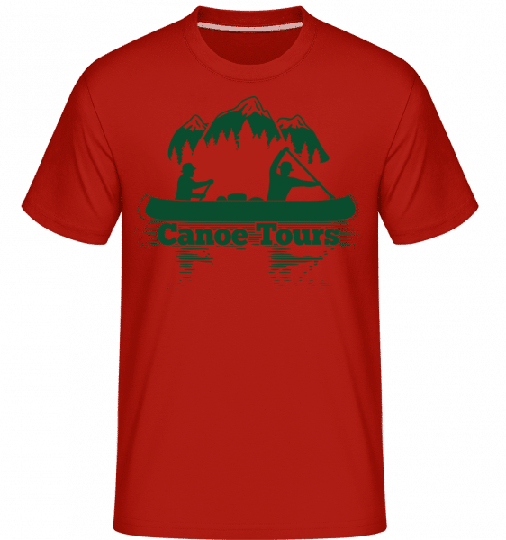 Canoe Tours Mountains -  Shirtinator Men's T-Shirt - Red - Front