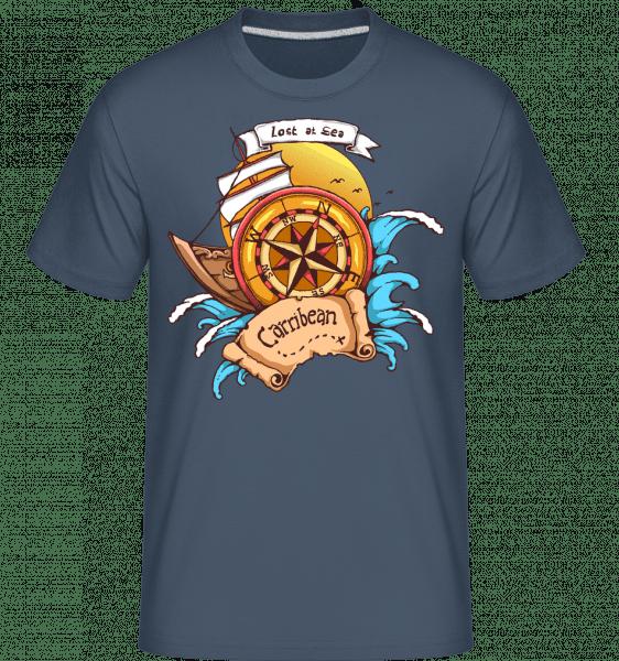 Lost At Sea -  Shirtinator Men's T-Shirt - Denim - Vorn