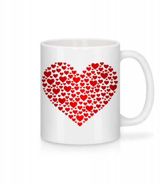 Hearts - Mug - White - Front