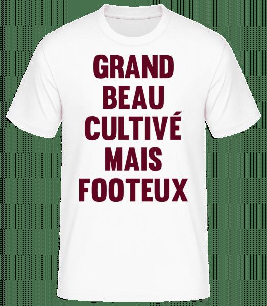 Grand Beau Cultivé Mais Footeux - T-shirt standard Homme - Blanc - Vorn