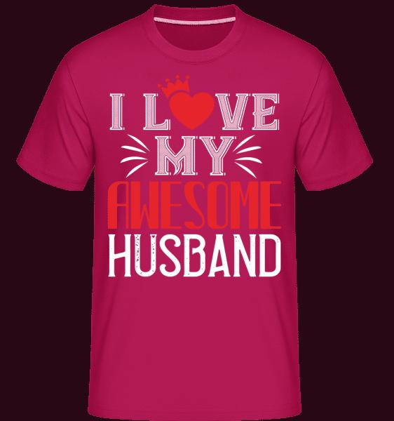 I Love My Awesome Husband -  Shirtinator Men's T-Shirt - Magenta - Vorn