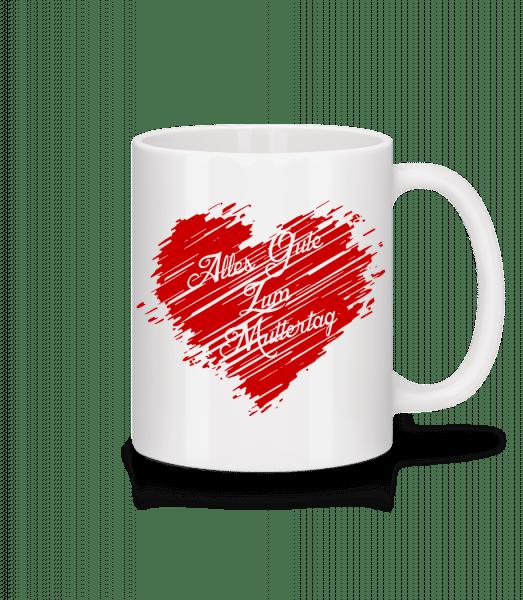 Alle Gute Zum Muttertag - Tasse - Weiß - Vorn