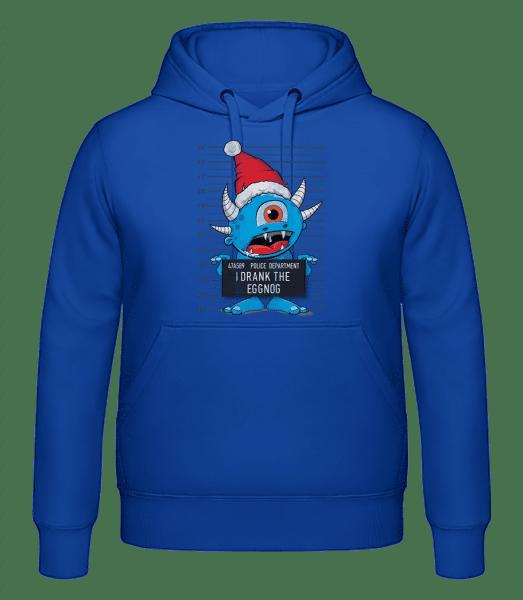Monster Christmas Criminal Photo - pánska mikina - Kráľovská modrá - Predné