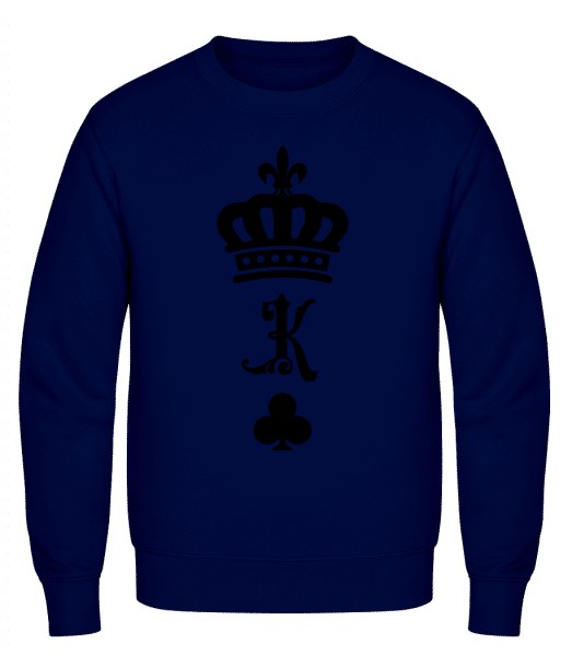 King Crown - Men's Sweatshirt AWDis - Navy - Vorn