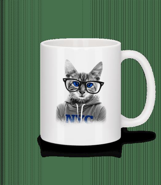 Cat NCY - Keramický hrnček - Biela - Predné