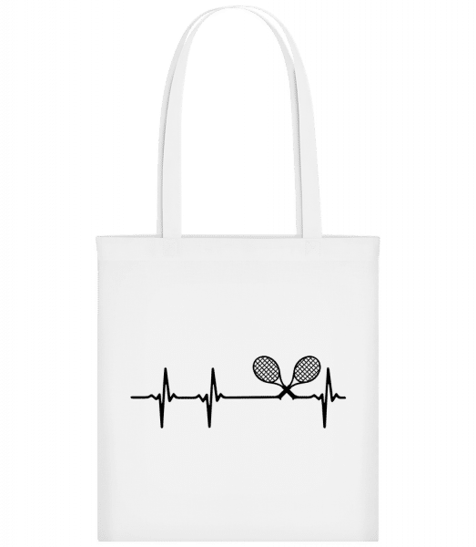Heartbeat Tennis - Carrier Bag - White - Vorn
