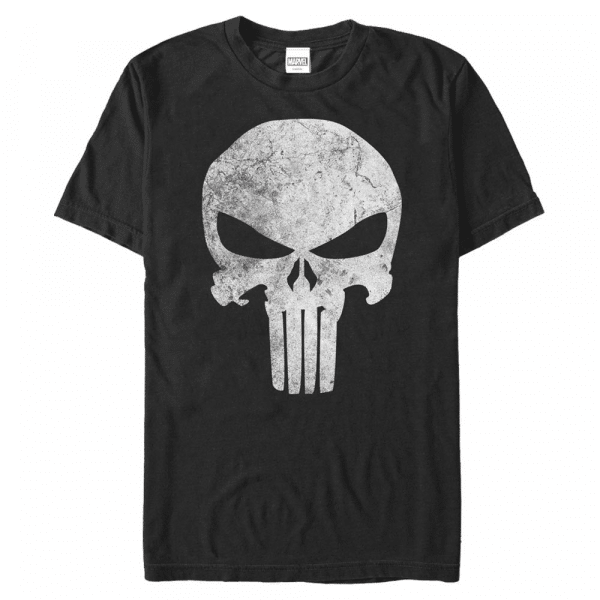 Punisher Distressed Skull - Marvel - Men's T-Shirt - Black - Front