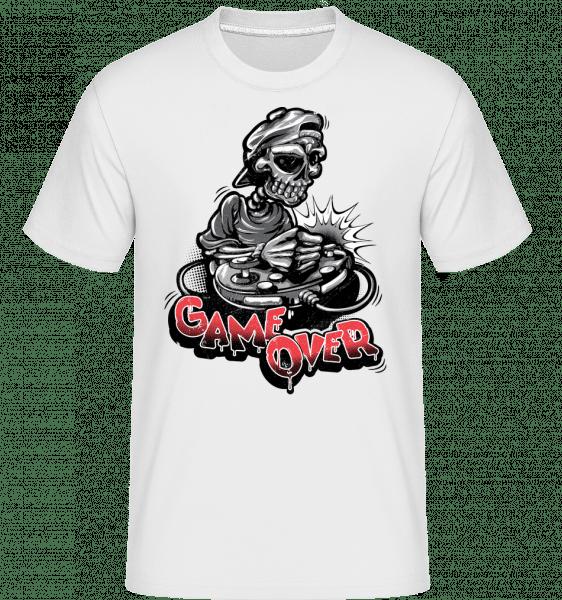 Game Over Skeleton -  Shirtinator Men's T-Shirt - White - Vorn