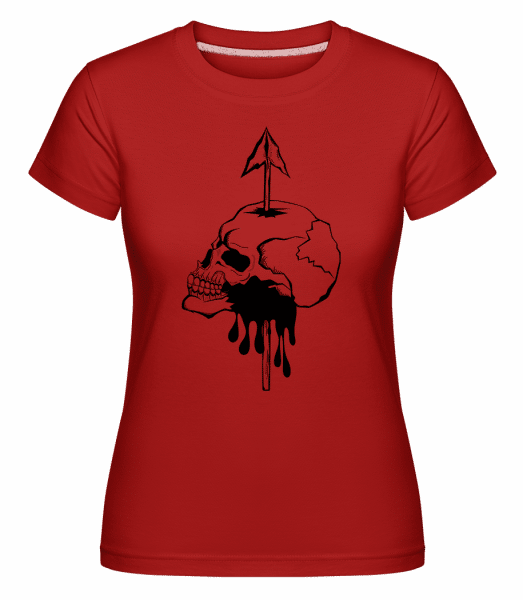Death By Spear -  Shirtinator Women's T-Shirt - Red - Vorn