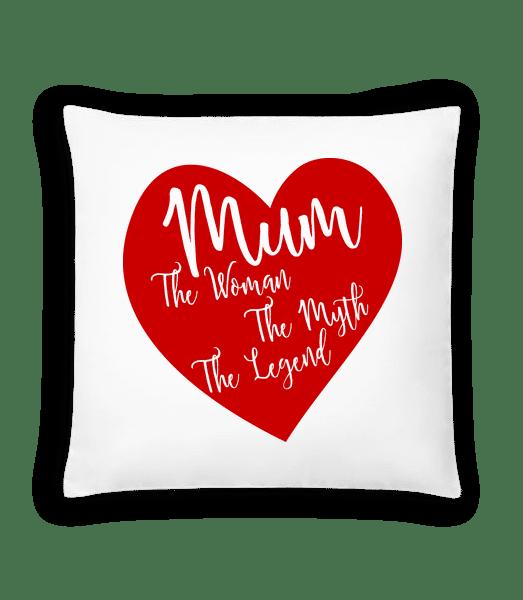 Mum - The Legend - Cushion - White - Vorn