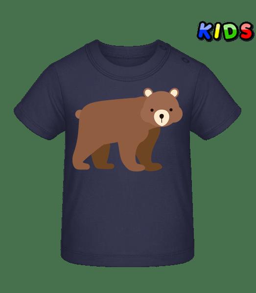 Baby Bear - Tričko pro miminka - Namořnická modrá - Napřed
