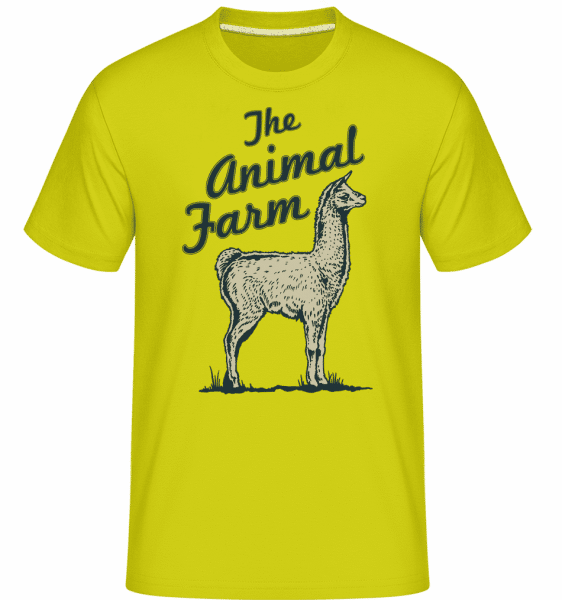 Llama The Animal Farm -  Shirtinator Men's T-Shirt - Apple green - Front