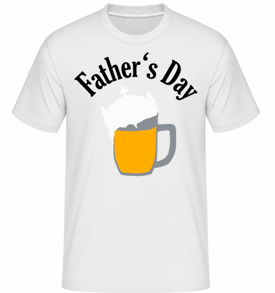 Father's Day Beer -  Shirtinator Men's T-Shirt - White - Vorn