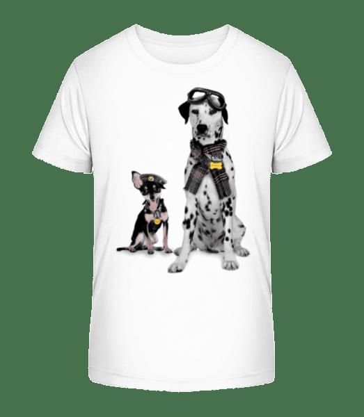 Psi Military - Detské Premium Bio tričko - Bílá - Napřed
