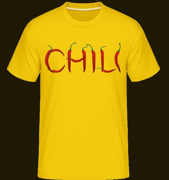 chili -  Shirtinator tričko pre pánov - Zlatožltá - Predné