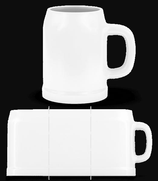 Pivní půlliter - Bílá - Napřed