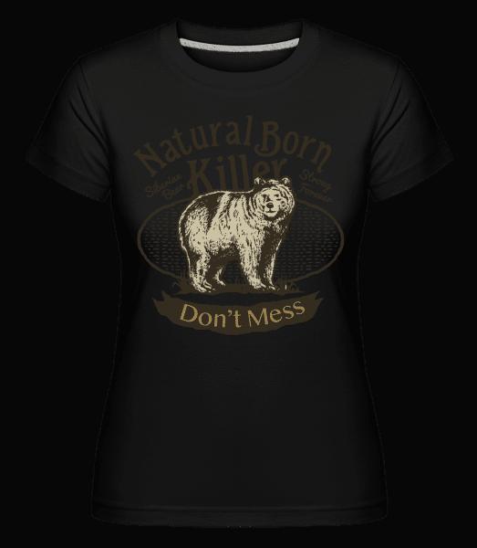 Siberian Bear -  Shirtinator Women's T-Shirt - Black - Vorn