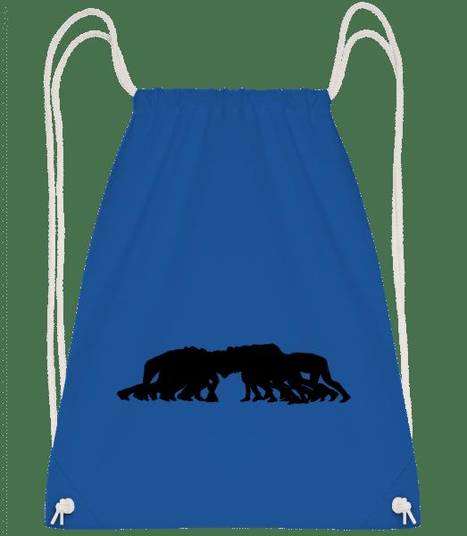 Football - Drawstring Backpack - Royal Blue - Vorn