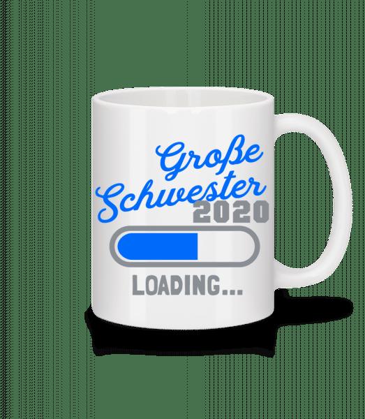 Große Schwester 2020 Ladebalken - Tasse - Weiß - Vorn