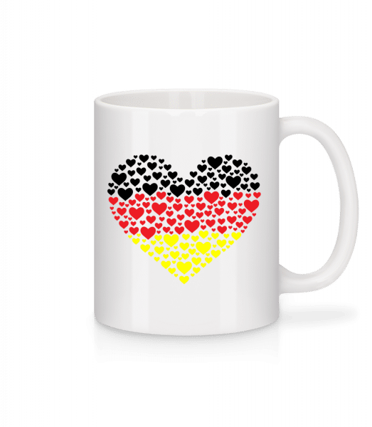 Hearts Germany - Mug - White - Vorn