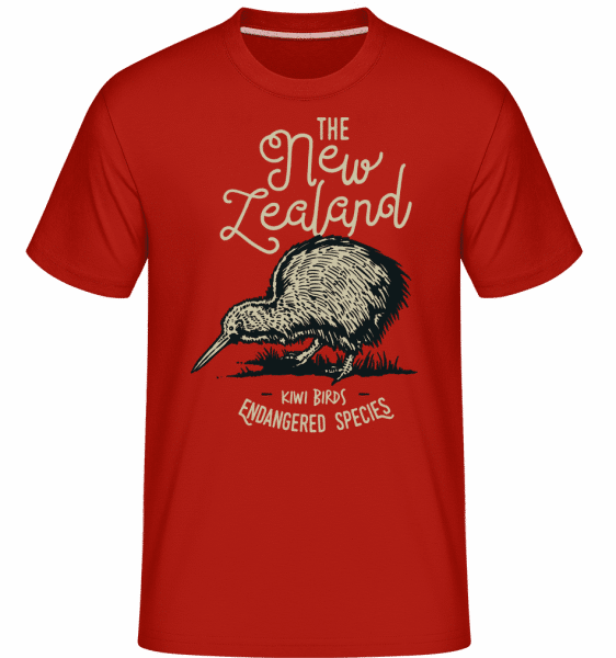 Kiwi New Zealand -  Shirtinator Men's T-Shirt - Red - Front