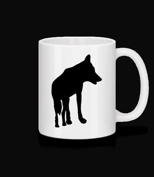Silhouette Wolf - Mug - White - Vorn