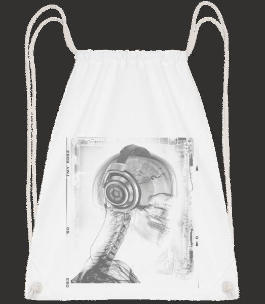 Skeleton Music - Drawstring Backpack - White - Vorn