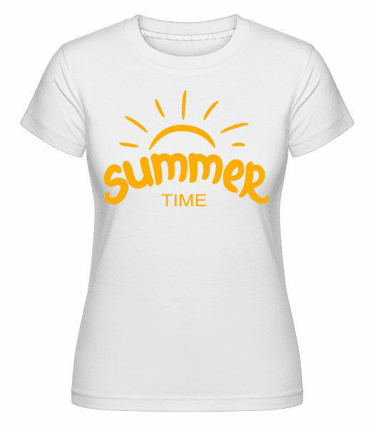 Summer Time Yellow -  T-shirt Shirtinator femme - Blanc - Devant