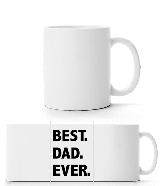 Best Dad Ever - Panorama Mug - White - Front