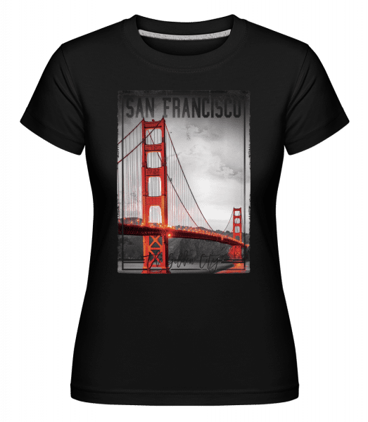 San Francisco Golden City -  Shirtinator Women's T-Shirt - Black - Vorn