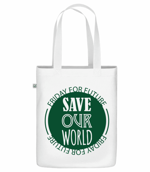 Save Our World - Bio Tasche - Weiß - Vorn