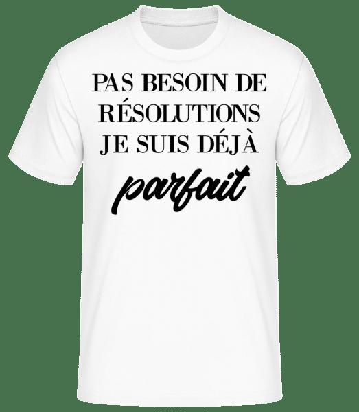 Je Suis Déjà Parfait - T-shirt standard Homme - Blanc - Vorn