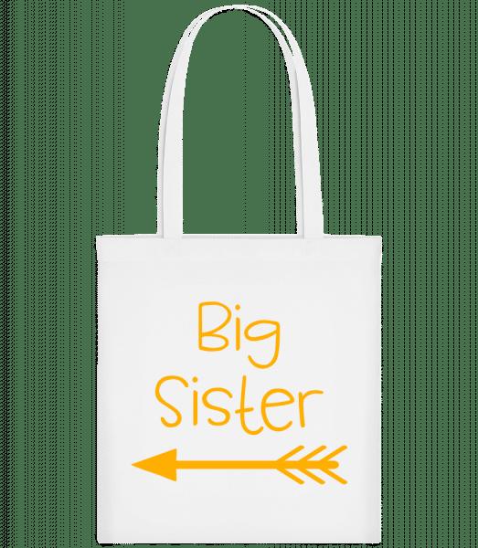 Big Sister - Carrier Bag - White - Vorn