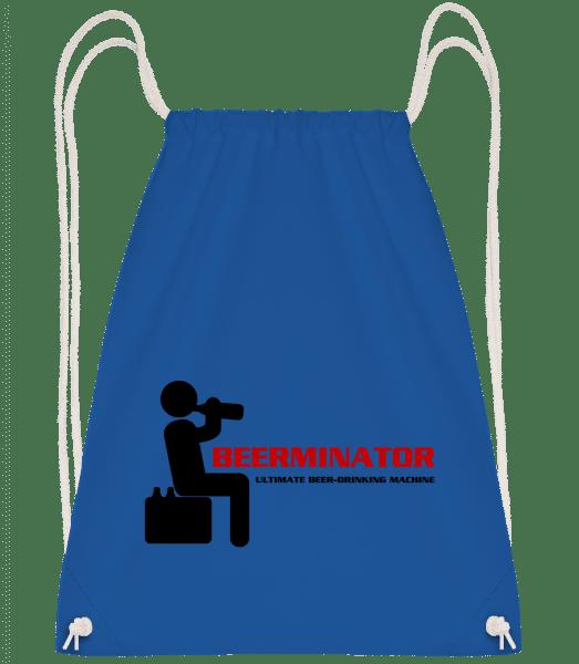 Beerminator - Drawstring Backpack - Royal blue - Vorn