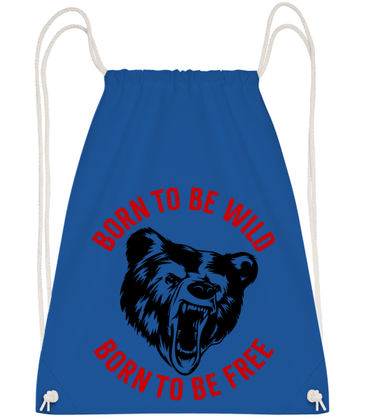 Born To Be Wild Red - Drawstring Backpack - Royal blue - Vorn