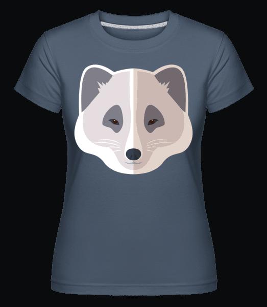 Waschbär Comic Schatten - Shirtinator Frauen T-Shirt - Denim - Vorn