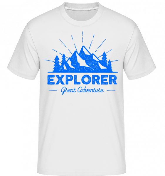 Explorer Great Adventures -  Shirtinator Men's T-Shirt - White - Vorn