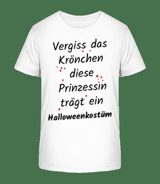 Prinzessin Trägt Halloweenkostüm - Kinder Premium Bio T-Shirt - Weiß - Vorn