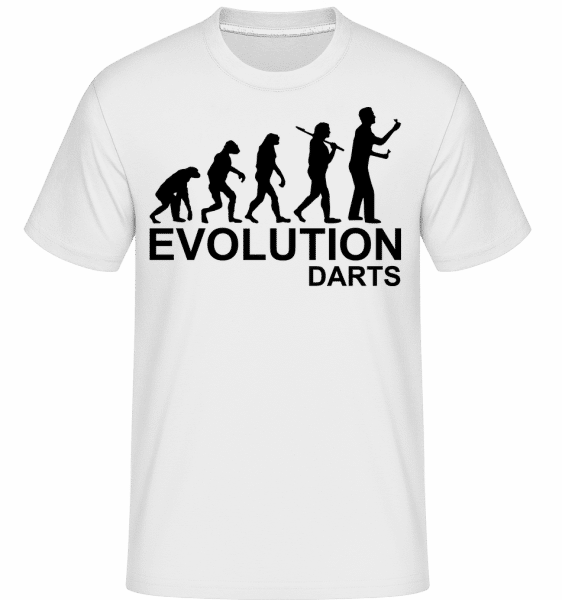 Darts Of Evolution - Shirtinator Männer T-Shirt - Weiß - Vorn