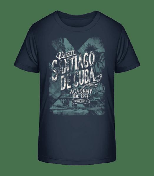 Varsity Santiago De Cuba - Kid's Premium Bio T-Shirt - Navy - Vorn
