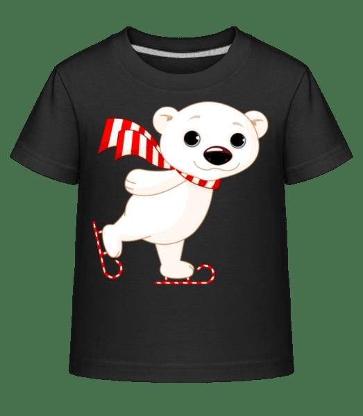 Ice Skate Polar Bear - Kid's Shirtinator T-Shirt - Black - Vorn