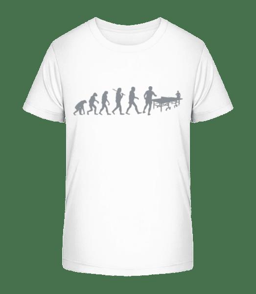 Evolution Of Table Tennis - Kid's Premium Bio T-Shirt - White - Front