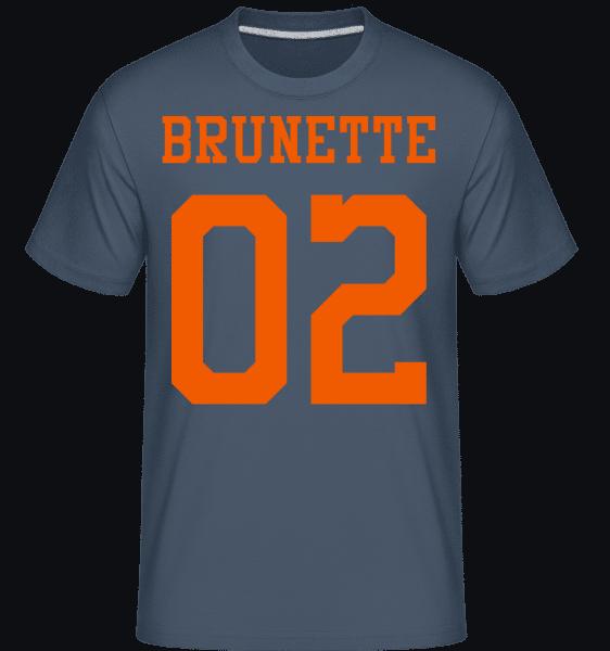 Brunette 02 -  Shirtinator Men's T-Shirt - Denim - Vorn