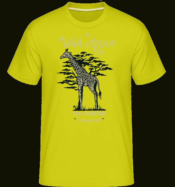Giraffe -  Shirtinator Men's T-Shirt - Apple green - Front